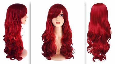 Dark Wine Red Ultra Soft Big Wavy Wig