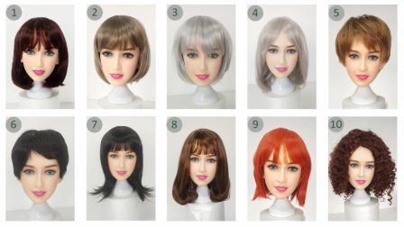 Variety Of Sex Doll Wigs
