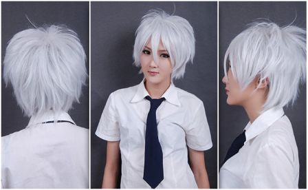 White Sex Doll Wig
