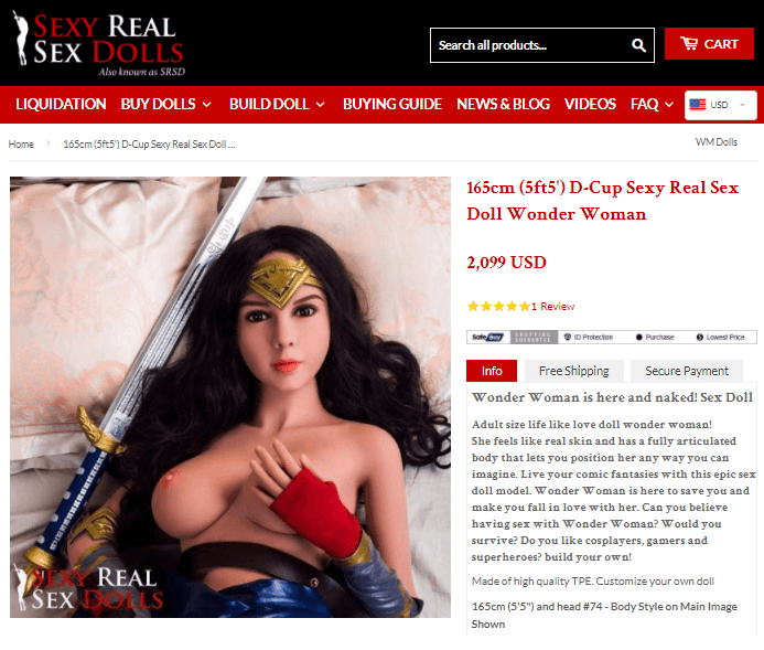 sexy real sex dolls wonder woman