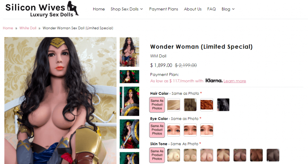 silicon wives wonder woman sex doll