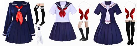 Classic Japanese Sailor Schoolgirl Costume For Asian Sex Dolls