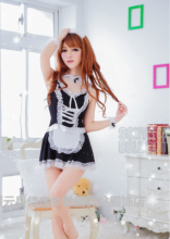 Sexy French Maid Costume For Asian Sex Dolls